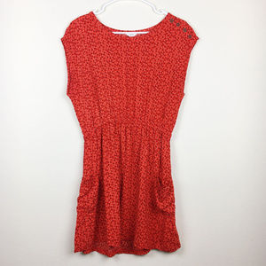 Red Minidress/Tunic with Pockets Size M